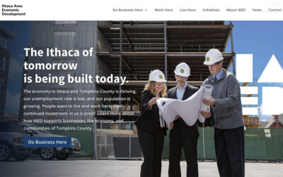 Ithaca Area Economic Development Launches New Website!