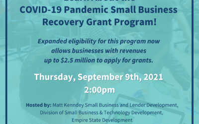 WEBINAR: Learn About The COVID-19 Small Business Recovery Grant Program